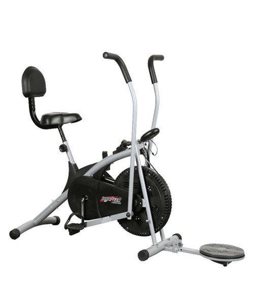 Body Gym Air Bike Stamina Exercise Cycle With Back & Twister