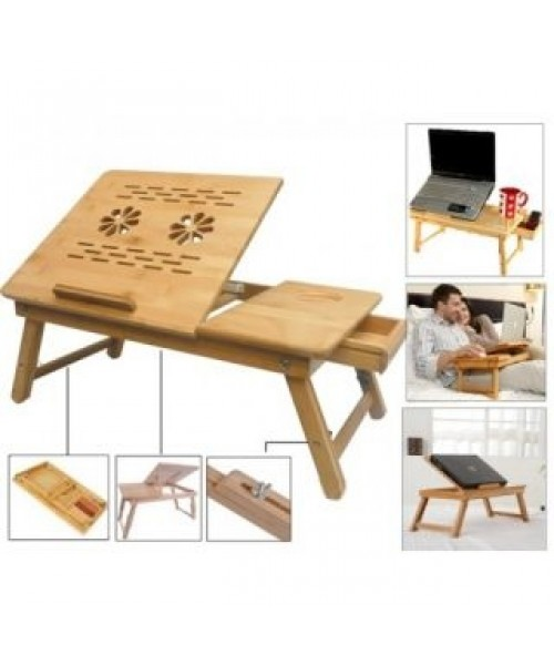 Beau Multipurpose Foldable Wooden Laptop Table Study Table