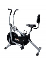Body Gym Air Bike Stamina Exercise Cycle With Back Support